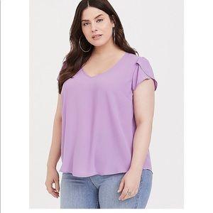 Torrid lavender split sleeve blouse